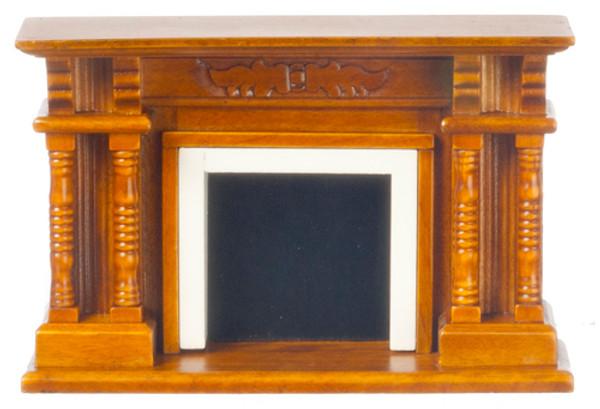 Wooden Walnut Fireplace