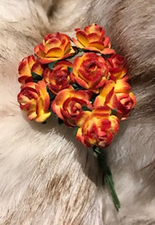 Red & Yellow Paper Roses