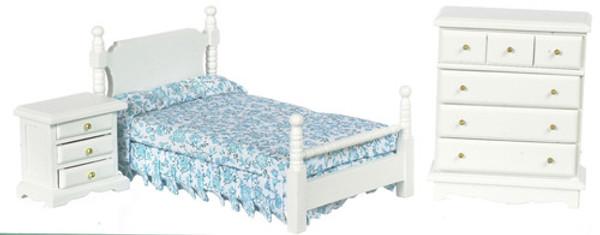 3 PC. White Bedroom Set