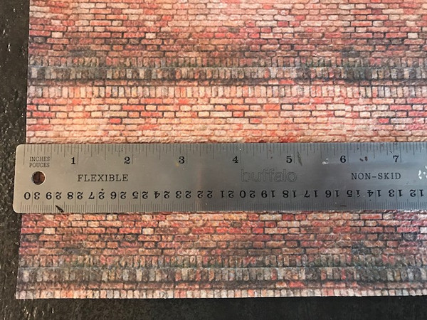 Textured Paper - 1/24 scale brick wall
