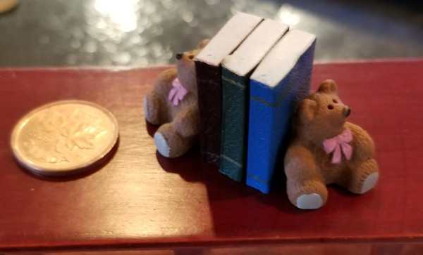 Books with Bear Bookends