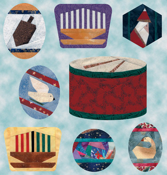 Holiday Ornaments Paper Pieced Quilt Pattern