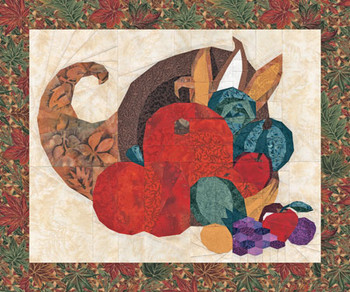 Harvest Cornucopia Paper Pieced Quilt Pattern
