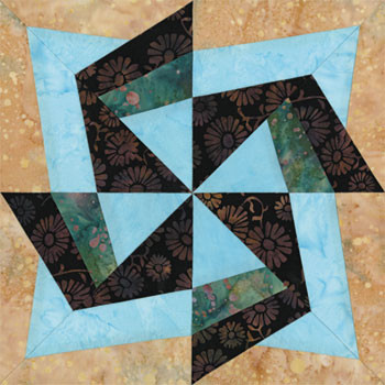 Beijing Transformation Paper Pieced Quilt Block Pattern