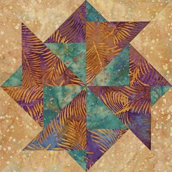 Colorful Corpus Christi Paper Pieced Quilt Block Pattern