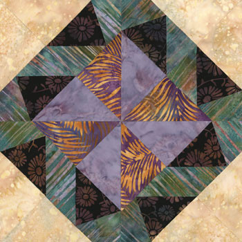 Denver Mile High City Paper Pieced Quilt Block Pattern