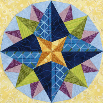 Adhara Paper Pieced Quilt Block Pattern