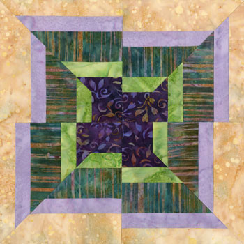 Rejigging World Paper Pieced Quilt Block Pattern