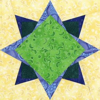 Mira Free Paper Pieced Quilt Block Pattern