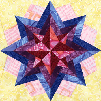 Sirius Paper Pieced Quilt Block Pattern