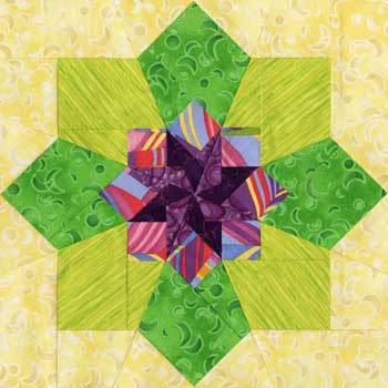 Vega Paper Pieced Quilt Block Pattern