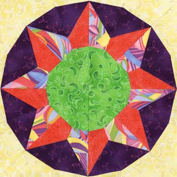 Xi Ser Paper Pieced Quilt Block Pattern