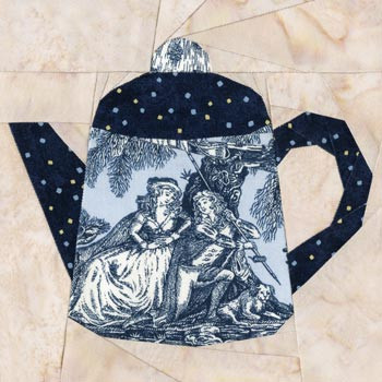 Dutch Teapot Paper Pieced Quilt Block Pattern