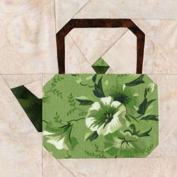 Japanese Kyusu Teapot Paper Pieced Quilt Block Pattern
