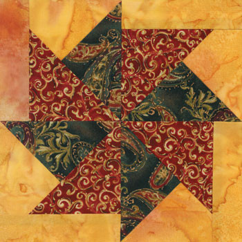 Flying Kite Paper Pieced Quilt Block Pattern