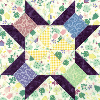 Hopscotch Spinning Spools Paper Pieced Quilt Block Pattern