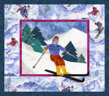 Ski Country Paper Pieced Quilt Pattern