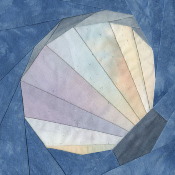 Giant Clam Paper Pieced Quilt Block Pattern