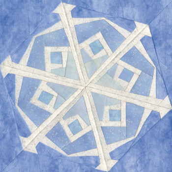 January Snowflake Paper Pieced Quilt Block Pattern