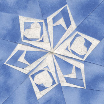 Snowflake Paper Pieced Quilt Block Pattern