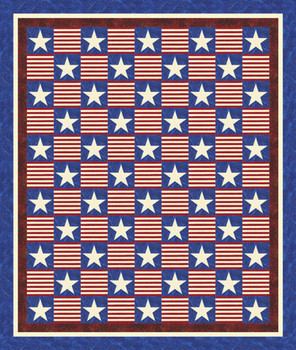 Stars and Stripes Forever Paper Pieced Quilt Pattern