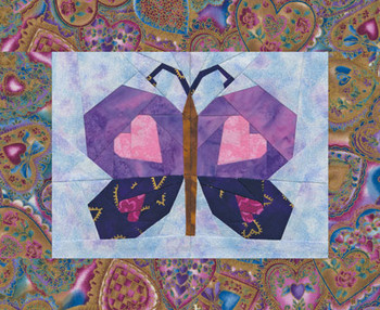 Fluttering Hearts Paper Pieced Quilt Pattern