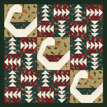 Holiday Goose Paper Pieced Quilt Pattern