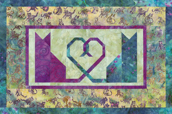 Kitties in Love Paper Pieced Quilt Pattern