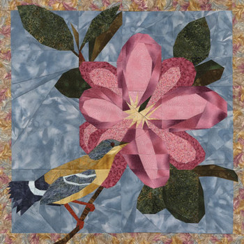 Magnolia Beauty Paper Pieced Quilt Pattern
