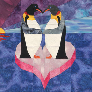 Penguin Love Paper Pieced Quilt Pattern