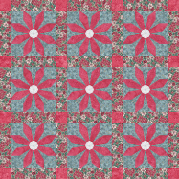 Christmas Flower Paper Pieced Quilt Pattern