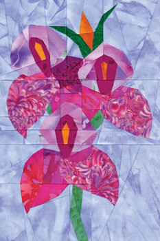 Disa Veitchii Orchid Paper Pieced Quilt Pattern