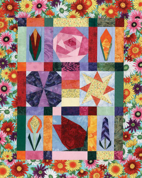 Quilted Garden Paper Pieced Quilt Pattern