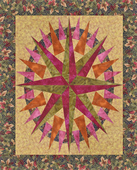 North Star Compass Paper Pieced Quilt Pattern