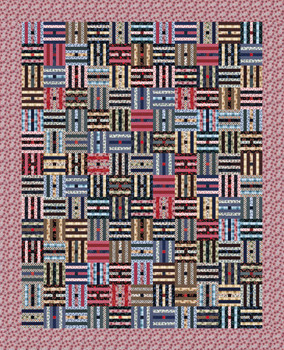 Log Fence Paper Pieced Quilt Pattern