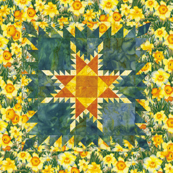 Feathered Star Paper Pieced Quilt Pattern