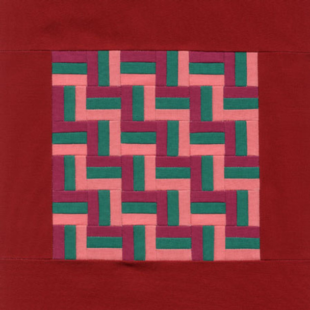 Amish Rail Fence Paper Pieced Quilt Pattern