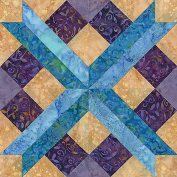 Chattanooga Crossroad Paper Pieced Quilt Block Pattern