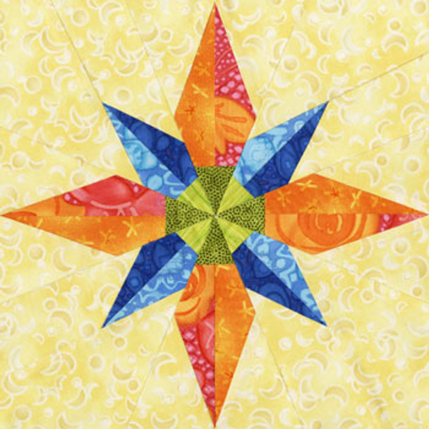 Betelgeuse Paper Pieced Quilt Block Pattern