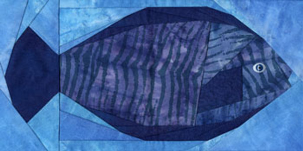 Brill Fish Paper Pieced Quilt Block Pattern