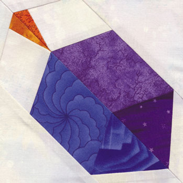 Dreidel Paper Pieced Quilt Block Pattern