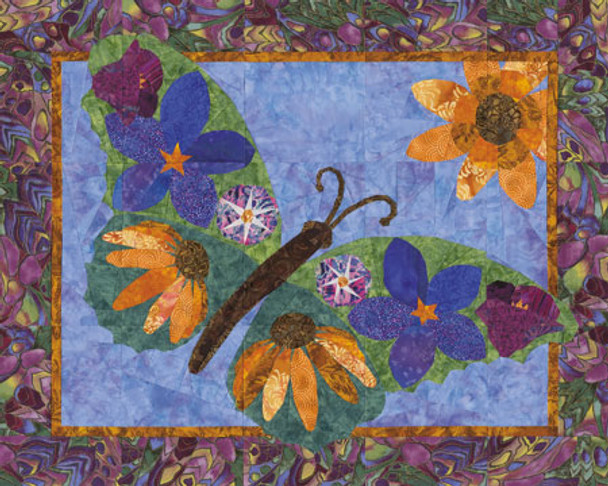 Butterfly Blossoms Paper Pieced Quilt Pattern