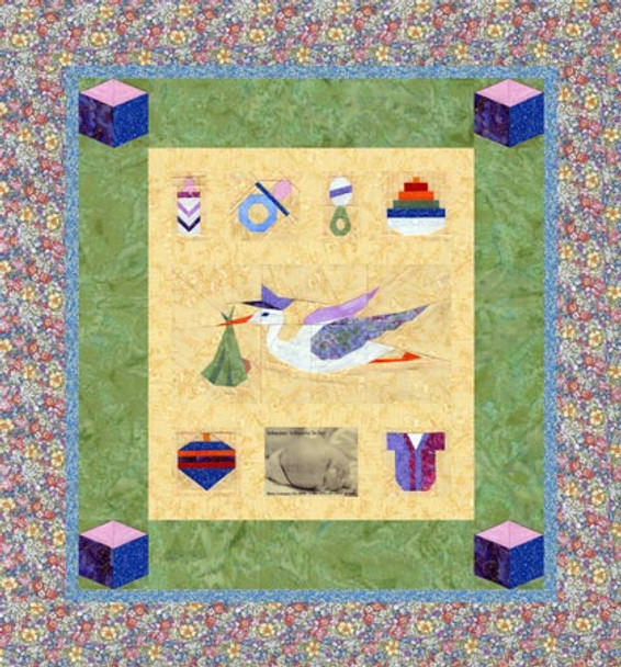 A New Arrival Paper Pieced Quilt Pattern