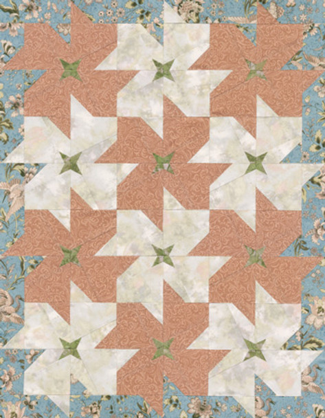 Dogwood Blossoms Paper Pieced Quilt Pattern
