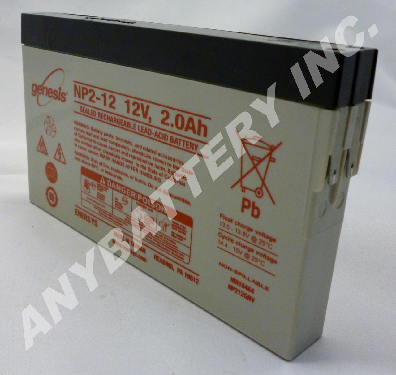 12V, 2ah SLA Battery