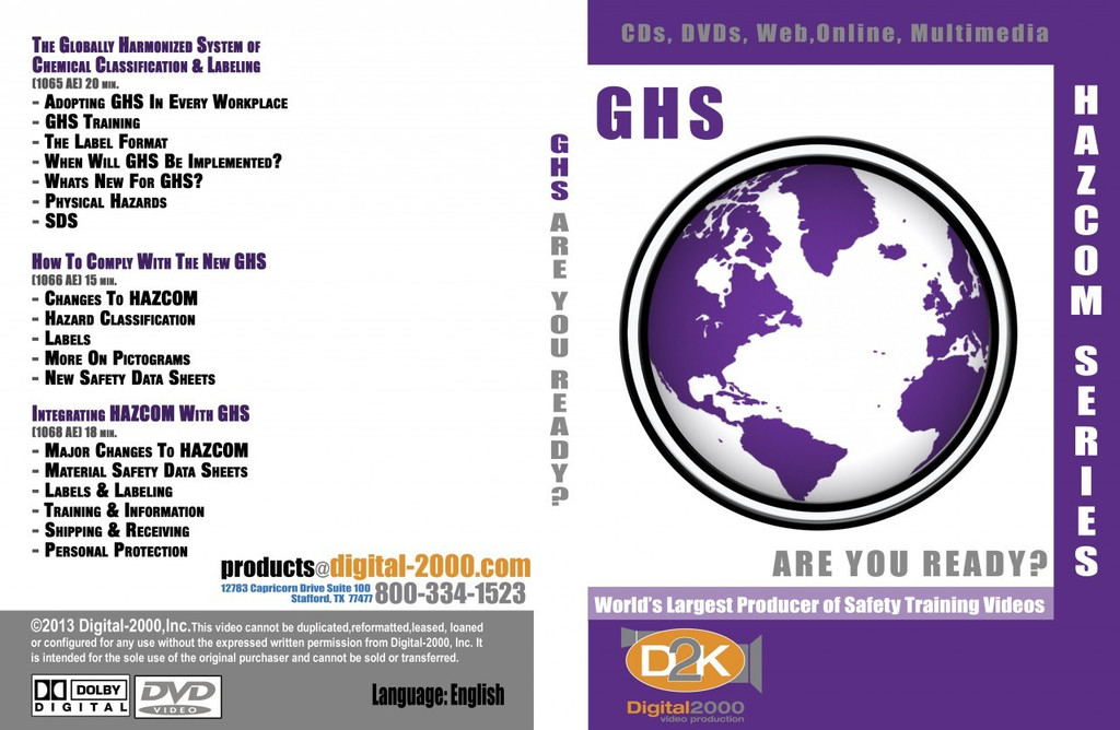 GHS Are You Ready? GHS & Hazcom Training Package