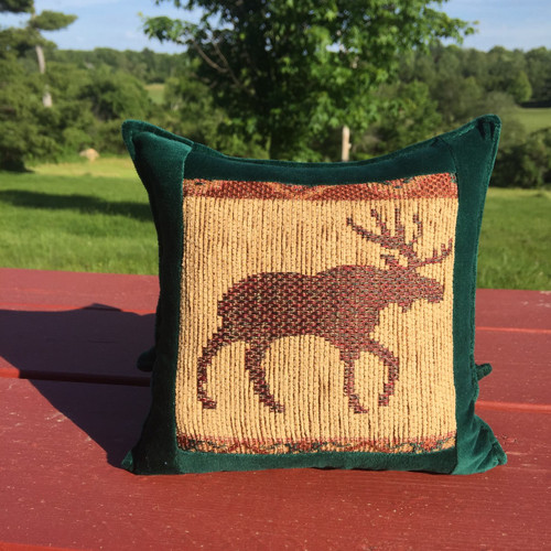 Moose Tapestry Pillow