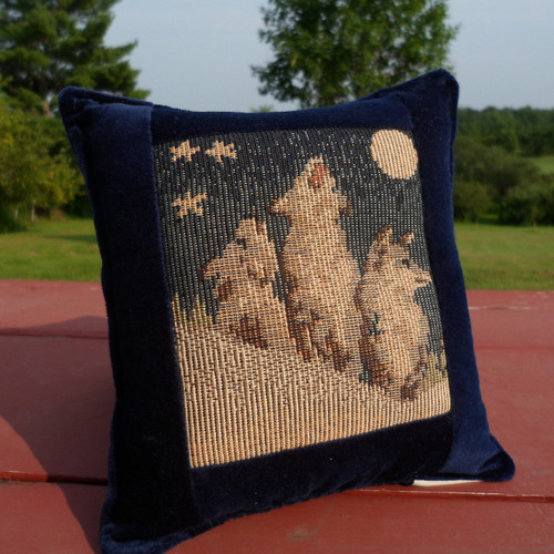 Howling Wolf Tapestry Pillow