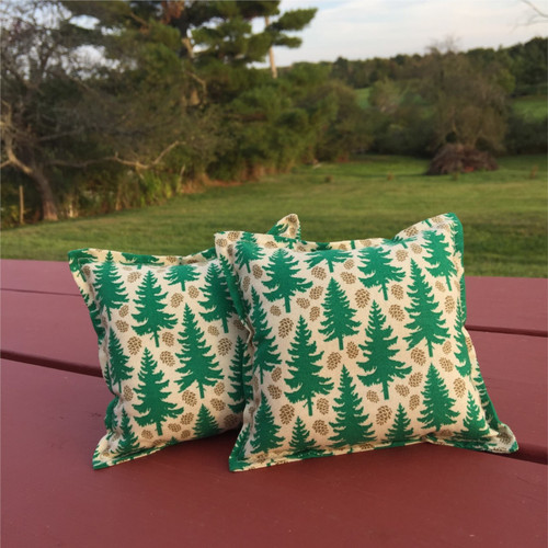 Spruce Tree Graphic Balsam Small Pillow