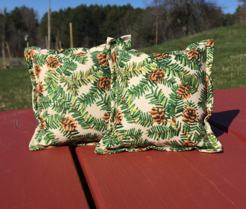 Hemlock Branches and Cones Balsam Small Pillow